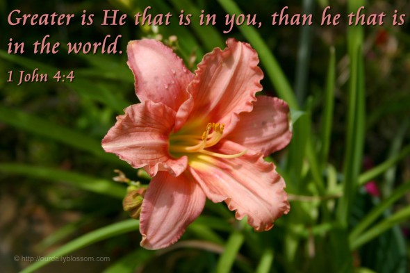 Greater is He that is in you, than he that is in the world. - 1 John 4:4