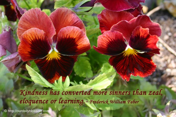 Kindness has converted more sinners than zeal, eloquence or learning. ~ Frederick William Faber