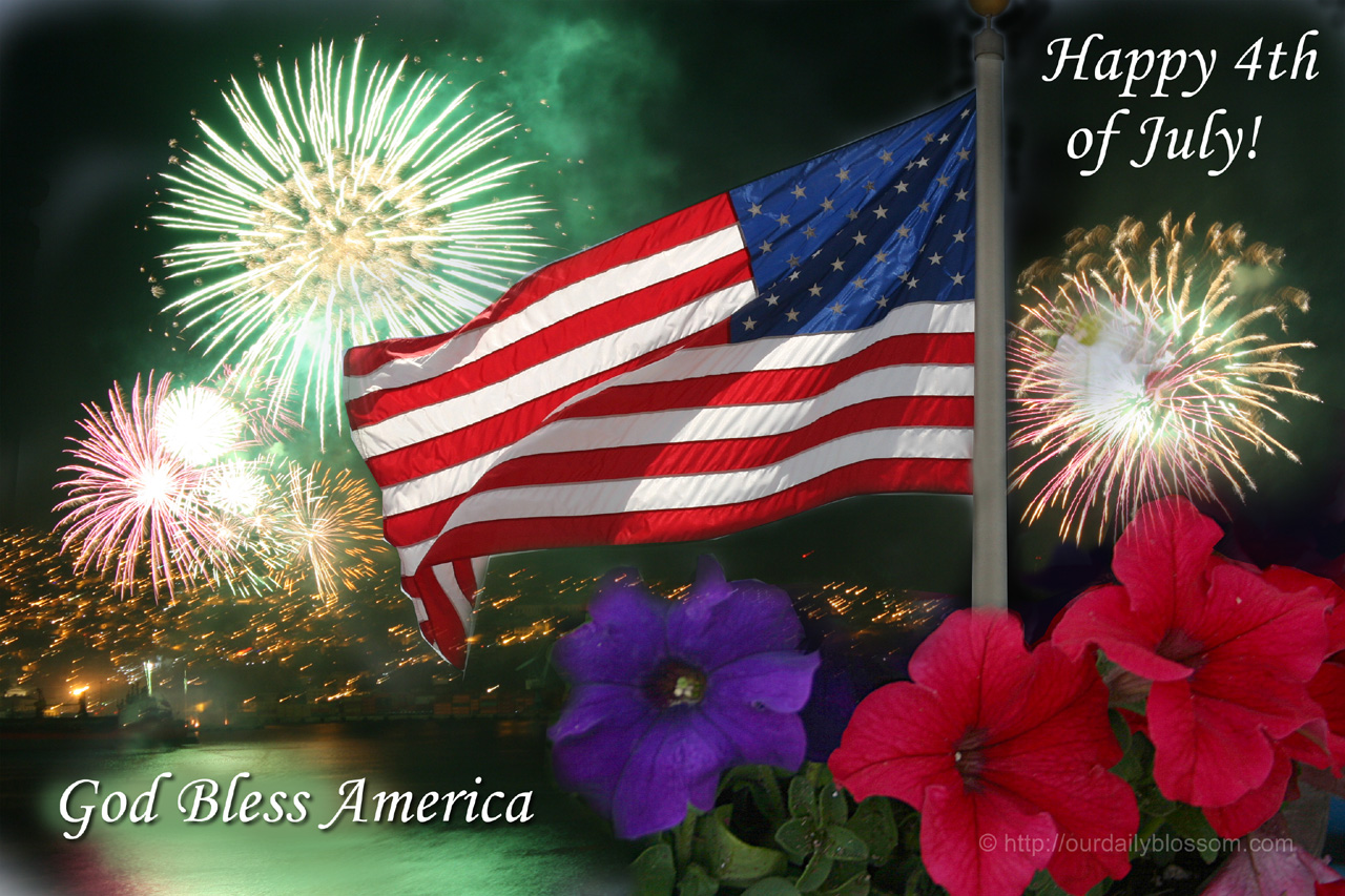 Seasonal – Happy Fourth of July!!  Our Daily Blossom